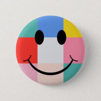 Badge Visage de smiley de style d'art de bruit