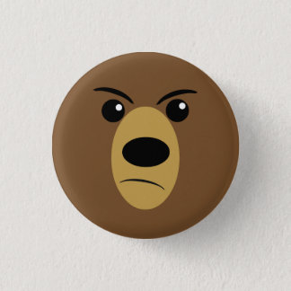 Badge Visage fâché d'ours