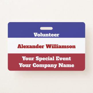 Badge Vote bleu blanc rouge patriotique de Jour de la