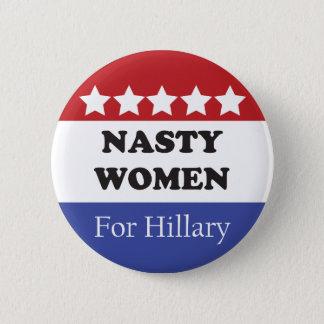 Badge Vote méchant de femmes pour Hillary