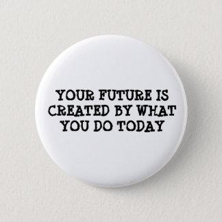 Badge Votre avenir est créé par ce que vous faites