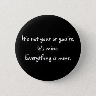 Badge Votre drôle vous êtes grammaire