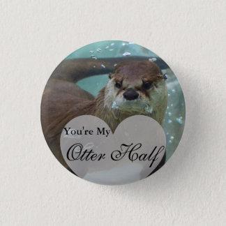 Badge Votre ma demi de natation de loutre de rivière de