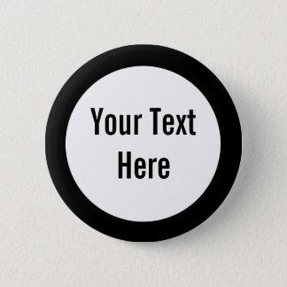 Badge Votre texte ici noircissent le bouton de coutume