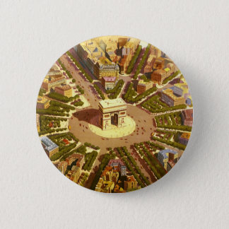 Badge Voyage vintage, Arc de Triomphe Paris France