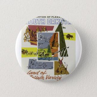 Badge Voyage vintage le Dakota du Sud Etats-Unis