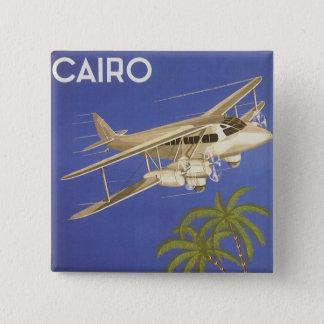 Badge Voyage vintage vers le Caire, Eygpt, avion de