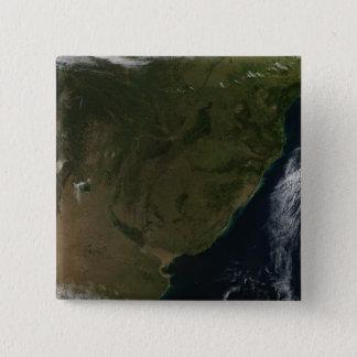 Badge Vue satellite de l'Amérique du Sud