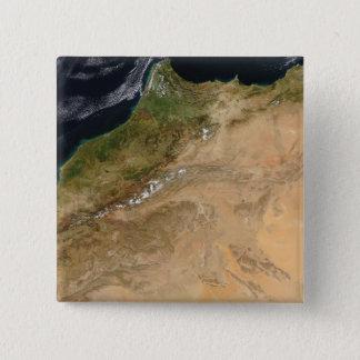 Badge Vue satellite du Maroc