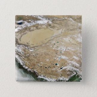 Badge Vue satellite du plateau tibétain