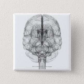Badge Wireframe du cerveau