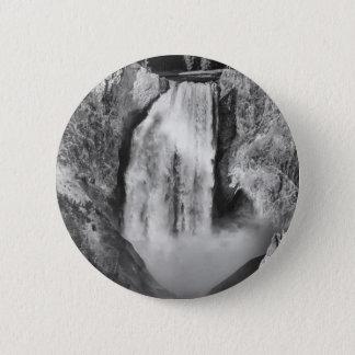Badge Yellowstone supérieur tombe en noir et blanc
