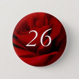 Badges 26ème Bouton de Pin de faveur de partie de rose