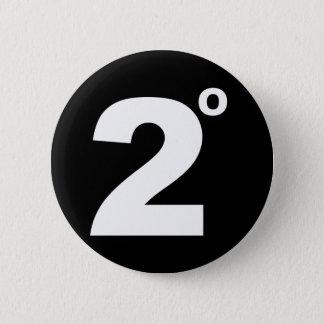 Badges 2 degrés de bouton de changement climatique