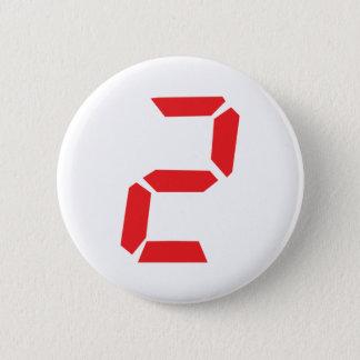 Badges 2 réveil de deux rouges numérique