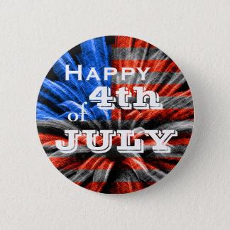 Badges 4 juillet feux d'artifice heureux de drapeau