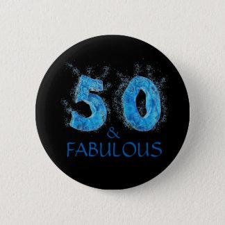 Badges 50 et anniversaire de bain de natation fabuleuse