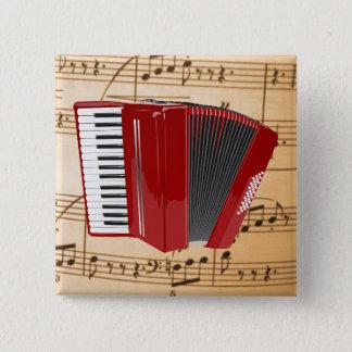 Badges Accordéon : L'accordéon rouge