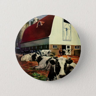 Badges Affaires vintages, vaches à lait du Holstein à