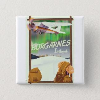 Badges Affiche de vol de l'Islande Borgarnes