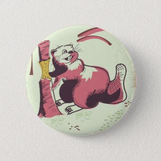 Badges Affiche vintage de voyage de castor du Canada