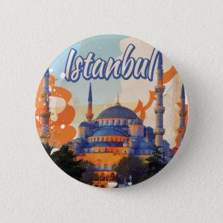 Badges Affiche vintage de voyage d'Istanbul