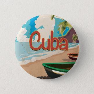 Badges Affiche vintage de voyage du Cuba