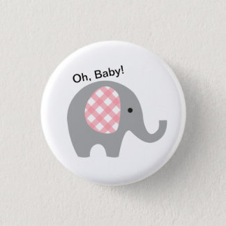 Badges Ah, bébé ! Bouton avec l'éléphant gris et les