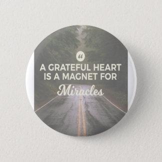 Badges Aimant reconnaissant de miracle de coeur