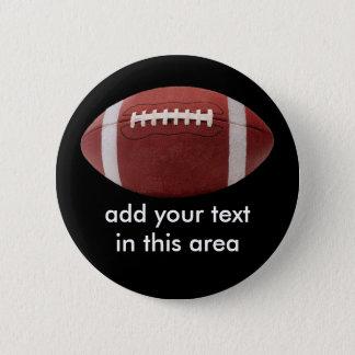 Badges Ajoutez votre Pin de bouton du football des textes