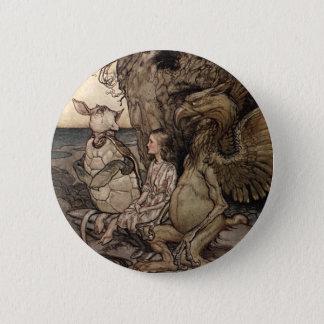 Badges Alice avec le Gryphon et la fausse tortue