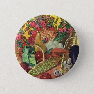 Badges Aliment biologique, légumes de jardin, fleurs de