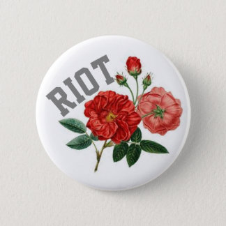 Badges Ameutez-vous avec la norme de roses, bouton rond