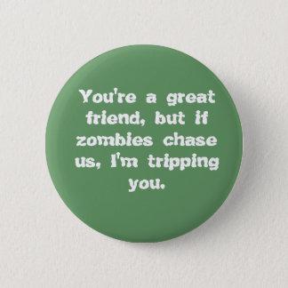 Badges Amis contre le bouton de zombis