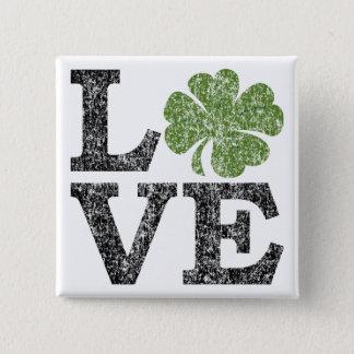 Badges AMOUR de Jour de la Saint Patrick avec le shamrock