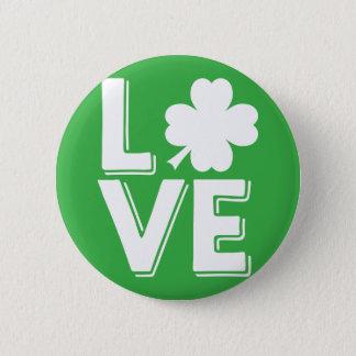 Badges Amour irlandais du jour de St Patrick avec le