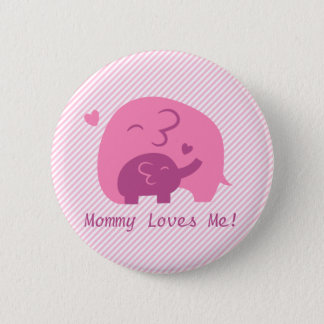 Badges Amour mignon de parents d'éléphant et de maman de