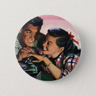 Badges Amoureux de lycée vintages, anneau de promesse