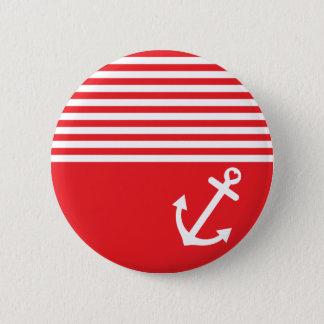 Badges Ancre rouge d'amour nautique