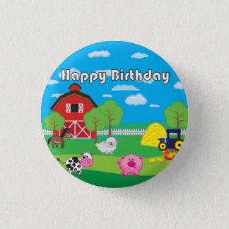 Badges Animal de basse-cour - ferme - fête d'anniversaire