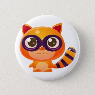 Badges Animal de bébé de raton laveur dans le style doux