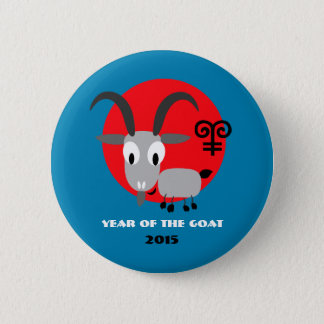 Badges Année chinoise des boutons de cadeau de chèvre