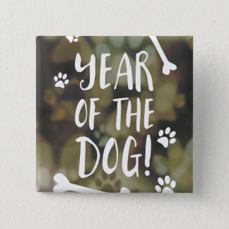 Badges Année du chien Bokeh