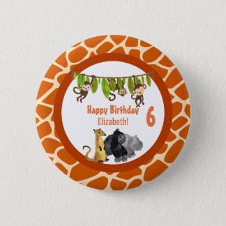Badges Anniversaire animal de thème de jungle de safari