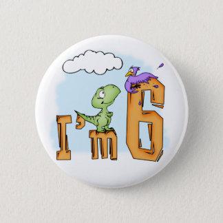 Badges Anniversaire d'amusement de Dino 6ème