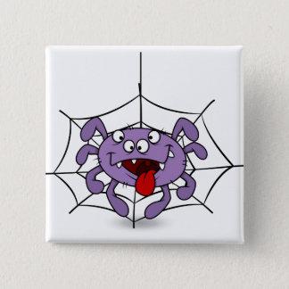 Badges Araignée pourpre idiote de bande dessinée