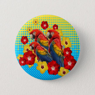 BADGES ARAS FLORAUX DE YELLOW-BLUE