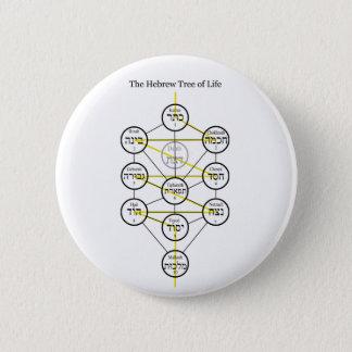 Badges Arbre de Kabbalistic d'hébreu de la vie avec