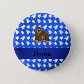 Badges Arbres bleus personnalisés de flocons de neige de