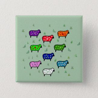 Badges Arc-en-ciel des moutons
